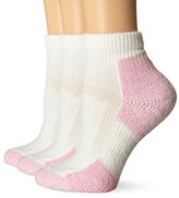Thorlo Women's Thick Padded Pink Walking Ankle Socks