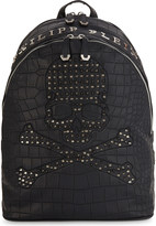 Philipp Plein Arkansas croc-embossed backpack