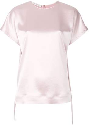 Cédric Charlier lace-up sleeves T-shirt