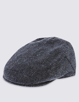 M&s Collection Pure Wool Thinsulatetm Flat Cap With Stormweartm