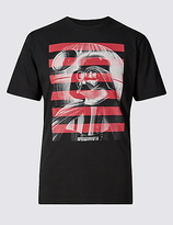 Marks And Spencer Marks And Spencer Star Warstm Darth Vader Pure Cotton T-shirt