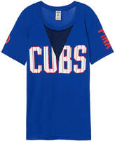 PINK Chicago Cubs Cutout Mesh Campus Tee
