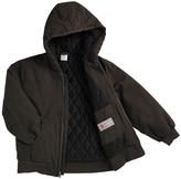 Carhartt Dark Brown Duck Hooded Jacket - Boys