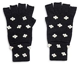 Lele Sadoughi Embellished Fingerless Knit Gloves