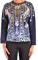 Just Cavalli Women's Blue Cotton Sweatshirt.