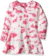 GUESS Little Girls' Long Sleeve Tiedyed Knit Dress