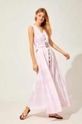 Solid & Striped Solid Striped Button Down Maxi Dress