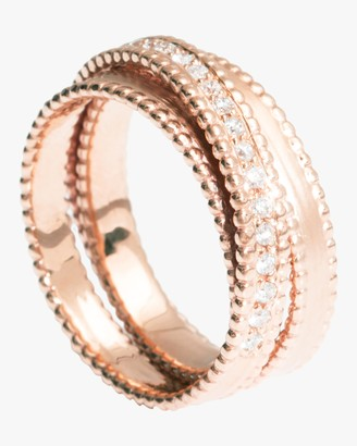 Sophie Ratner Half Embedded Diamond Spiral Ring