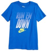 Nike Boy's Run 'Em Down Graphic T-Shirt