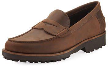 a. testoni a.testoni Waterproof Leather Penny Loafer