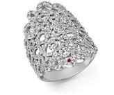 Roberto Coin 18K White Gold Moresque Diamond Band Ring