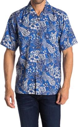 Tommy Bahama Baja Batik Short Sleeve Original Fit Hawaiian Shirt