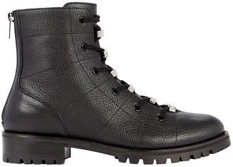 Jimmy Choo Bren Crystal-Embellished Combat Boots