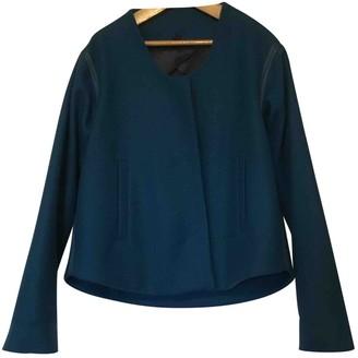 Maison Margiela Turquoise Wool Jackets