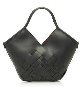 Hereu Colomba Small Woven Leather Tote