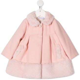 Patachou Fur Trim Coat