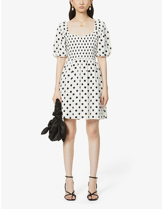 Faithfull The Brand Llaria polka dot woven mini dress