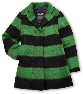 Green & Black Bomboogie (Girls 4-6x Stripe Coat