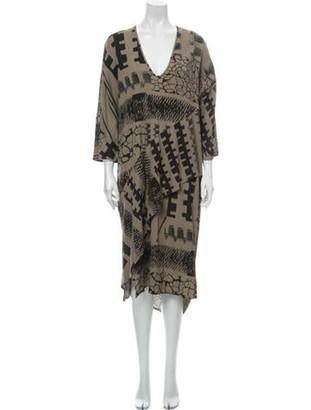 Zero Maria Cornejo Printed Midi Length Dress