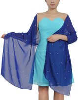 """ANTS Women's Chiffon Beaded Bridal Prom Evening Shawl Wraps Scarves Color Size 27""""71"""""""