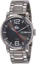 Quiksilver Men's QS/1011GYSV THE SENTINEL Day/Date Function Silver-Tone Bracelet Watch