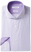 Isaac Mizrahi Check Slim Fit Dress Shirt