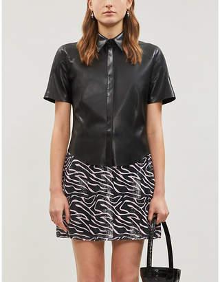 Olivia Rubin Libby high-waist sequinned mini skirt