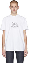 A.P.C. White JJJJound Edition Rough T-Shirt