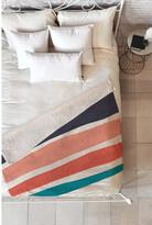 Deny Designs Zoe Wodarz Paper Stripe Fleece Throw Blanket