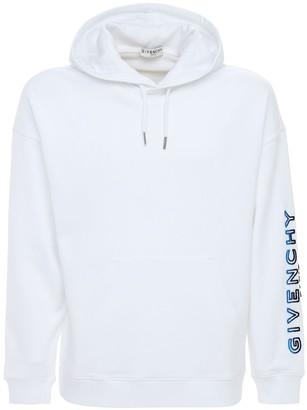 Givenchy Tufted Logo Cotton Sweatshirt Hoodie