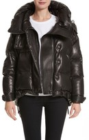 Burberry Women's Rocklands Quilted Down Leather Coat
