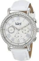 Burgi Women's BUR087SSW Analog Display Swiss Quartz White Watch