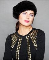 The Fur Vault Knitted Mink Fur Beret
