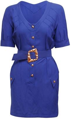Thierry Mugler Purple Polyester Dresses