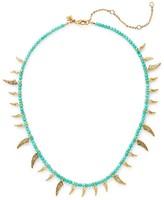 Rebecca Minkoff Tiki Beaded Spike Necklace