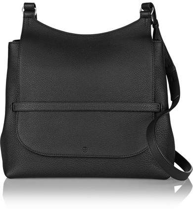 The Row Sideby Textured-leather Shoulder Bag - Black