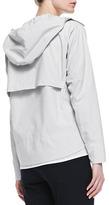 Theory Dripp Ribbed Hooded Coat