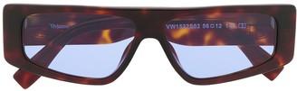 Vivienne Westwood Rectangular-Frame Flat Top Sunglasses