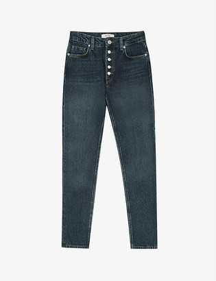 Reiss Bailey slim fit mid-rise cropped cut jeans