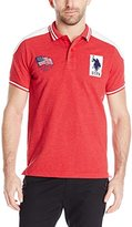 U.S. Polo Assn. Men's Embellished Sporty Pique Polo Shirt