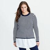 Ralph Lauren Woman Layered Wool Sweater