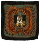 Hermes Tigre Royal Cashmere Pocket Square