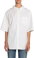 Balenciaga Button-Down Short-Sleeve Swing Shirt