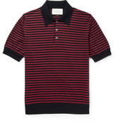 Gucci Slim-Fit Striped Cotton and Cashmere-Blend Polo Shirt