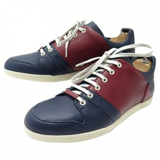 Christian Dior Navy Leather Trainers