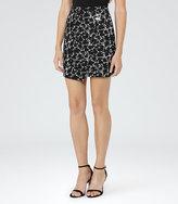 Reiss Naomi Jacquard Wrap Skirt