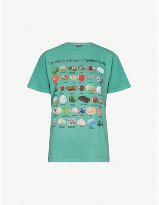 Stussy Stone-print cotton-jersey T-shirt