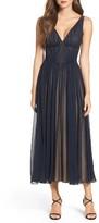 Vera Wang Women's Chiffon Fit & Flare Dress