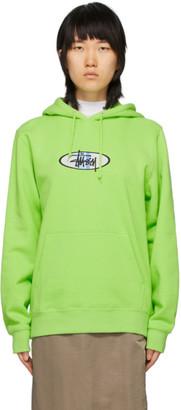 Stussy Green 2 Bar Logo Hoodie