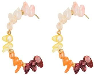 Joanna Laura Constantine pearl hoop earrings